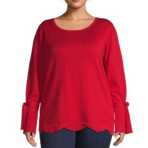 MAREE POUR TOI Scalloped Sweater